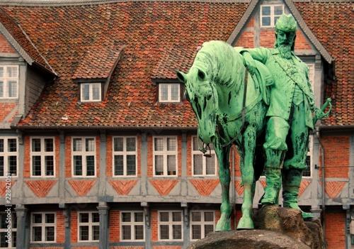 Leinwanddruck Bild Reiterbrunnen Wolfenbüttel 4
