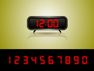 Alarm Clock with Digits Vector