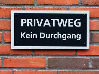 Privatweg - Kein Durchgang