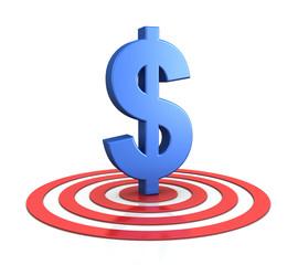 dollar sign on target
