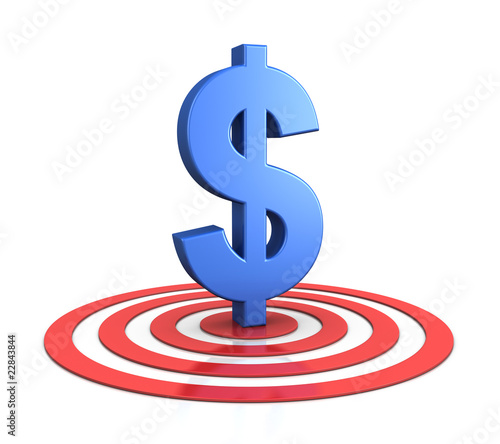 dollar sign on target