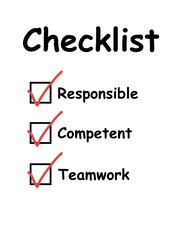 Checklist with checkboxes ticked
