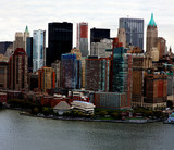 Beautiful architectural buildings in New York City-