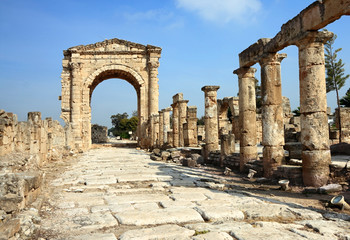 Roman Triumphal Arch and Road, Tyre- Lebanon