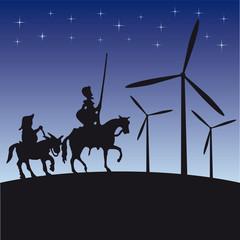 Don Quijote vector illustration cartoon silhouette