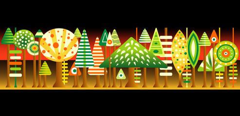 Pop Art  forest