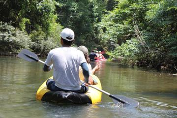 canoe trekking