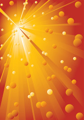 Background with yellow-red rays.