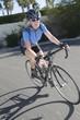 Female road cyclist