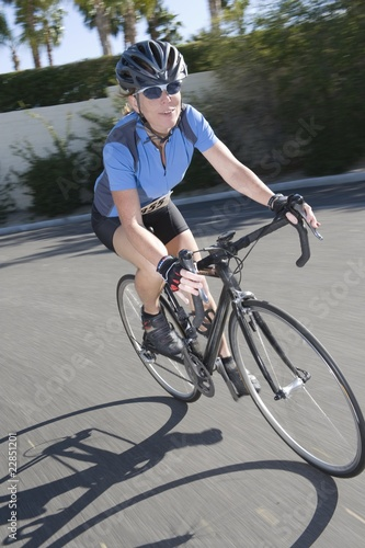 Female road cyclist