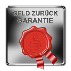 button geld-zurück-garantie