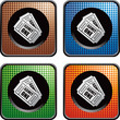 admission tickets colored checkered web buttons