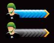 army man blue and black arrows