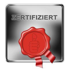 zertifiziert, button