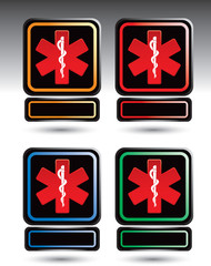 caduceus medical symbol blank nameplates
