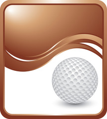 golf ball bronze wave background