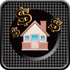 home investment black checkered web icon