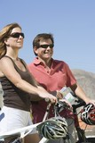 Mature couple on cycling holiday