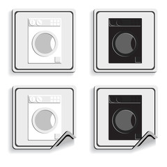 Set of the buttons. Home appliances.