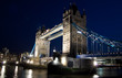 Night view of the Tower Bridge in London
