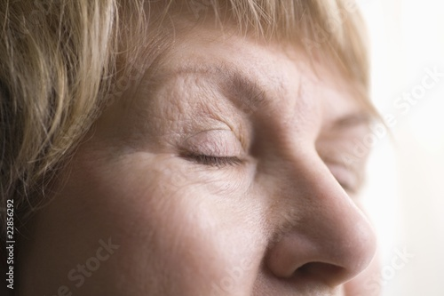 Mature woman, skin around eyes