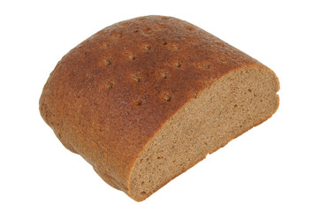 Brown bread isolated on white background