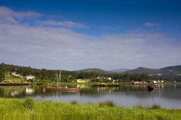 barco vikingo, catoira, galicia