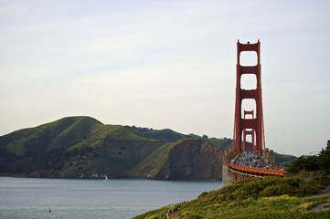 Golden Gate bridge with view to Marin County