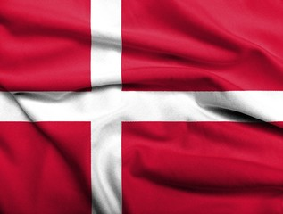 3D Flag of Denmark satin