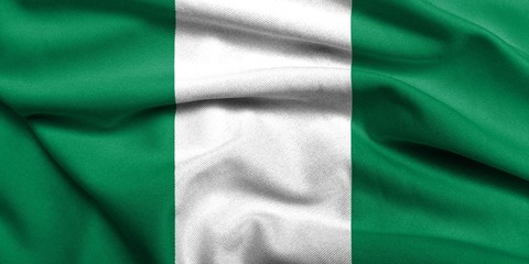 3D Flag of Nigeria satin