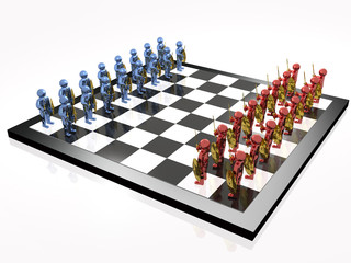 Warriors on the chess-board
