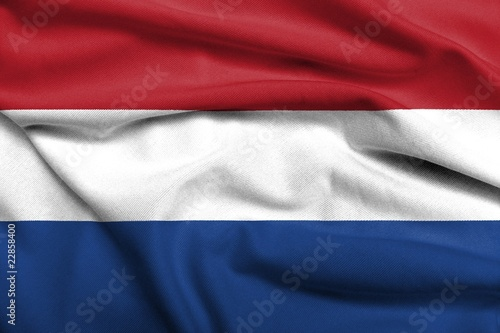 3D Flag of Netherlands satin