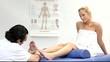 medizinische Fußmassage