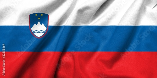 3D Flag of Slovenia satin