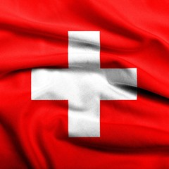 3D Flag of Switzerland satin