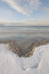 Low tide near Ramberg in Flakstadoya on the Loftofen islands, Norway