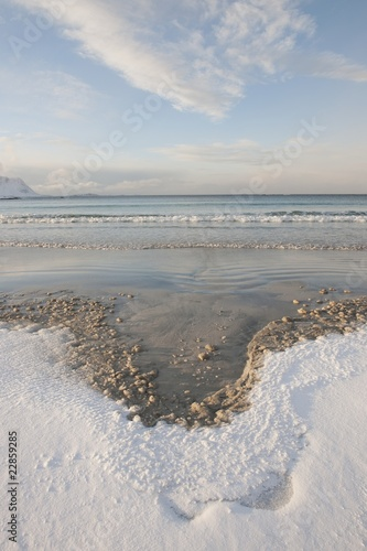 Low tide near Ramberg in Flakstadoya on the Loftofen islands, Norway