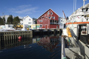 Fishing harbour in Norway