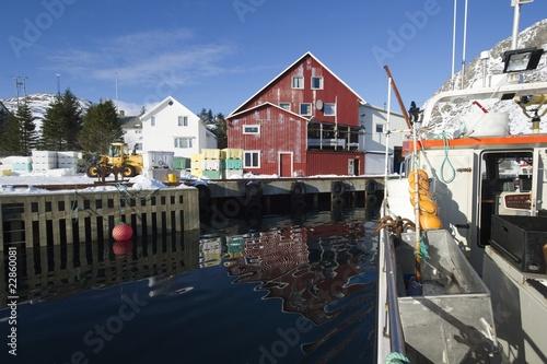 Fishing harbour in Norway