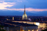 Fototapety Mole Antonelliana di notte, Torino (Piemonte), Italia