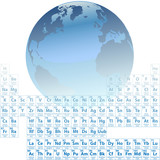 Earth is made of atoms Periodic Table Elements Science poster
