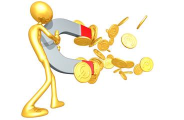 Gold Guy Money Magnet Concept