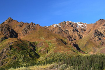 mountain ridge, Denali National Park, Alaska