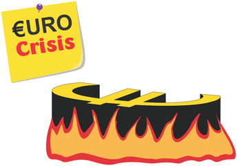 Vector Conceptual Euro / Greece Crisis Illustration