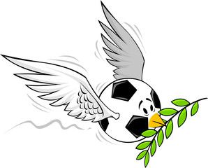 Dove of peace in Soccer / Football
