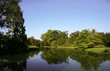Lake in park, caste in  Lednice
