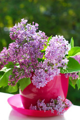 bunch of lilac in the vase