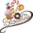 Muffin, Donut, Süßigkeiten, Lutscher, Zuckerstange
