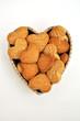 Pensiero d'amore dolce cuore di biscotti