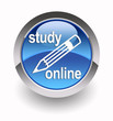 ''Study online'' glossy icon